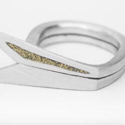 Ring Avion Dorado