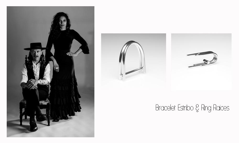 Bracelet Estribo & Ring Raices